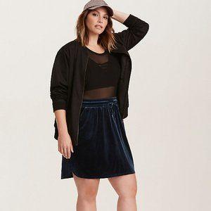 TORRID Blue Velvet Pull On Mini Skirt Women's 3XL
